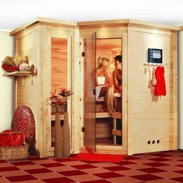 Karibu Sauna Sahib2 9 kw Ofen mit integrierter Steuerung