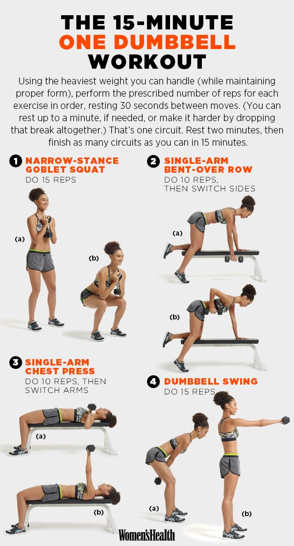 For a quick, one-dumbbell workout. | 29 Diagrams To Help You Get In Shape