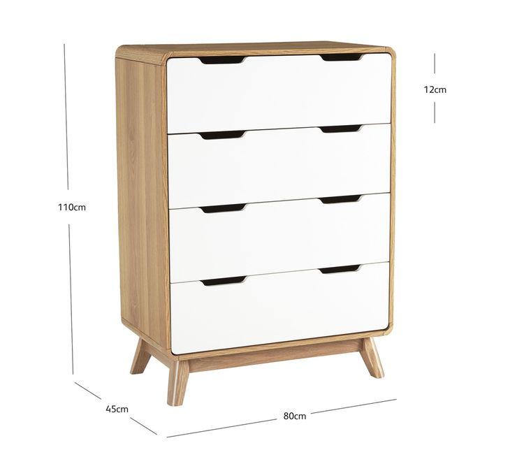 Retro 4 Drawer Tallboy Fantastic Furniture Top Quality Bedroom Furniture Fantastic Furniture Value Furniture