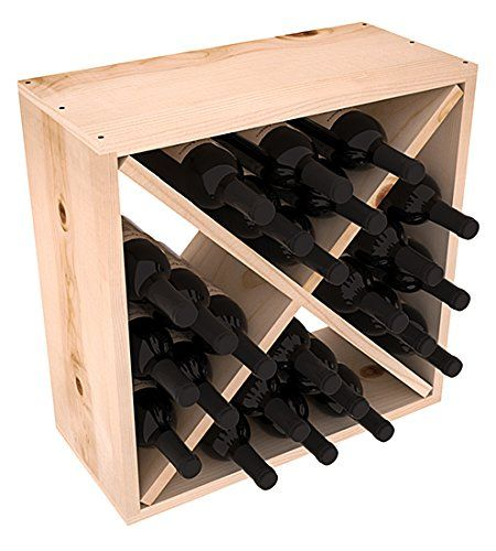 Wine+Racks+America+Rustic+Pine+24+Bottle+Value+Cube.+13+Stains+to+Choose+From!