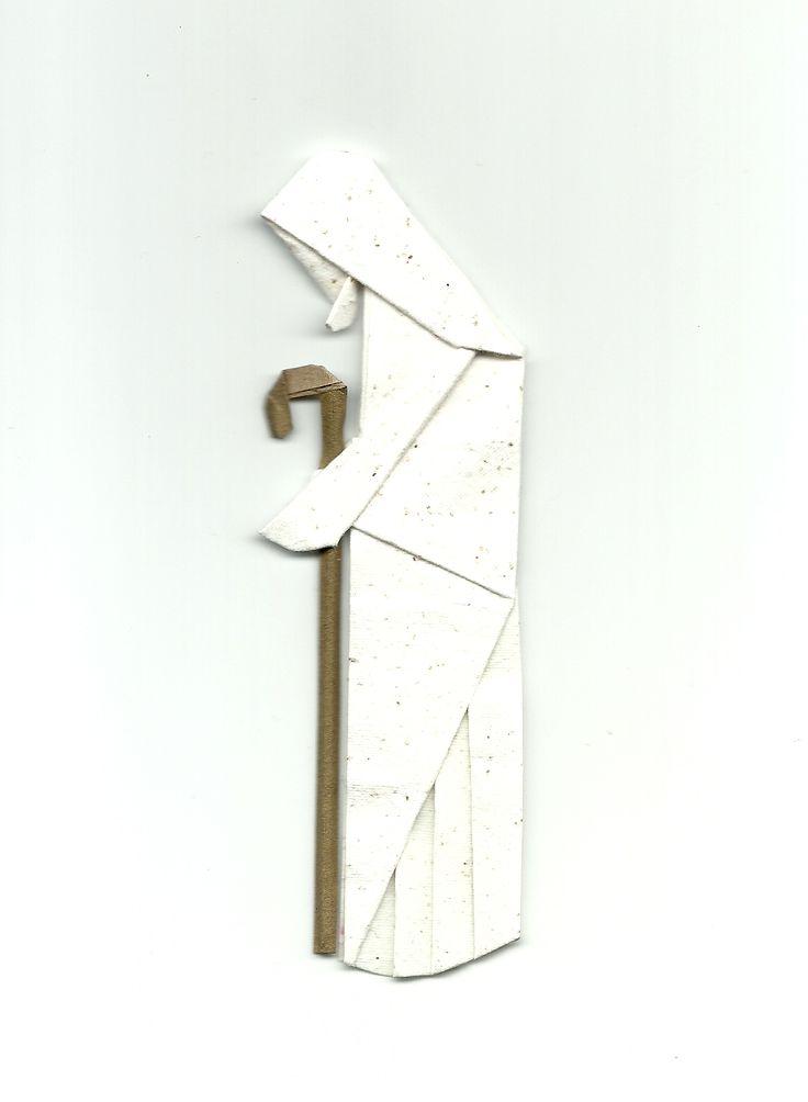 Marcador de páginas em origami Jesus