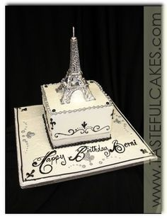 making a 21st birthday fresh cream cake for a paris theme - Google Search