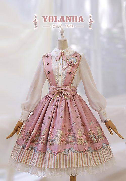 Yolanda -Bunny's Herbology- Lolita Salopette/Skirt