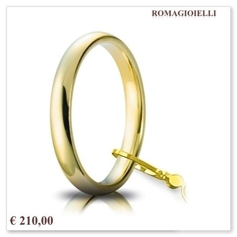 Fedi nuziali e gioielli Romagioielli € 210 Comoda 3 mm.