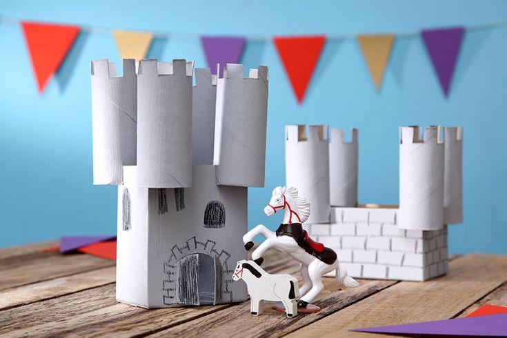Die Ritterburg ist ein Highlight auf dem Geburtstagstisch. • Umsetzung und Foto: Thordis Rüggeberg