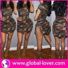 China Women Shirt Dresses Summer Camou Dress Fashion Army Dress