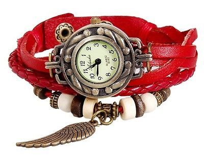 Women's Fashionable Analog Watch - With a Stylish and Unique Strap (Red)