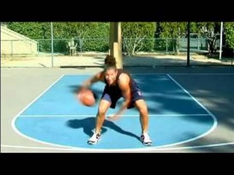 Basketball Tips for Women : How to Dribble a Figure Eight in Basketball