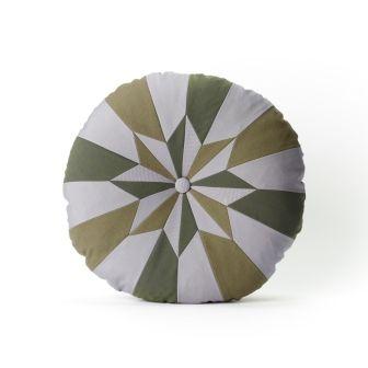 Star Cushion, Lavender, Grey, Olive