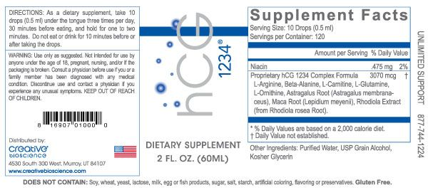 hCG Drops | hCG 1234® by Creative Bioscience®