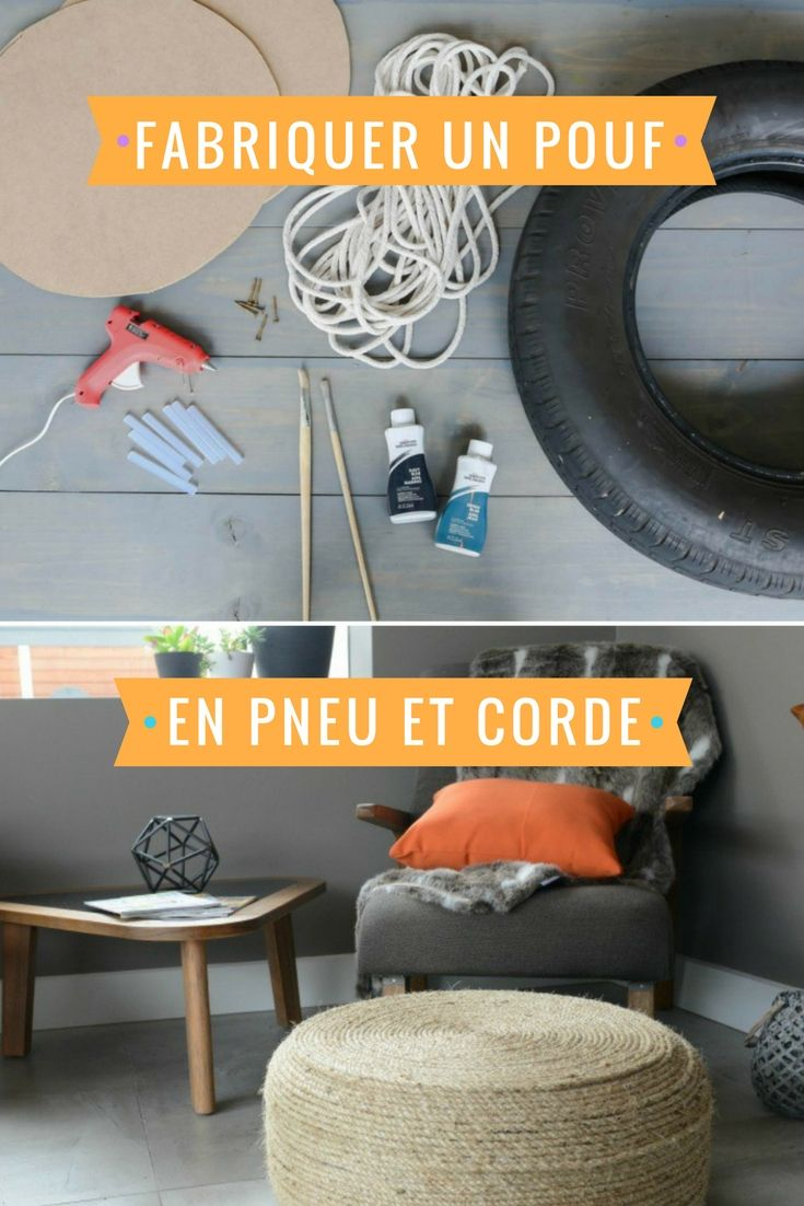 les 25 meilleures id es de la cat gorie pouf de pneu de corde sur pinterest pouf pneu si ges. Black Bedroom Furniture Sets. Home Design Ideas