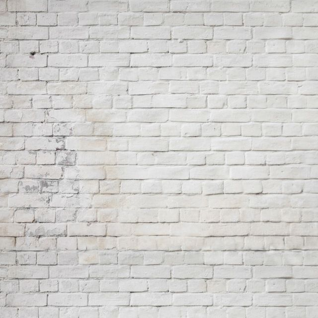 send rolled !  7' x7'  Grunge White Brick Wall Backdrop - Printed Fabric Photography Background W291