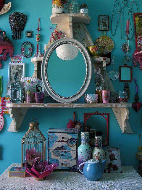 Bright wall color