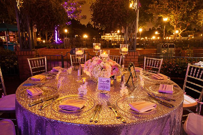 this wedding reception at french market in disneyland park sparkled all night decor pinterest disneyland park and disney weddings