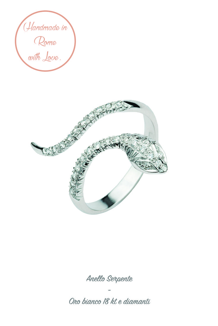 #anello #ring #whitegold #fashion #cool #precious #lunatica #lunaticacool #lunaticagioielli #gioielli #snake #serpente #diamods #trend #2016 #easytowear #madeinitaly #handmade #glam #fashion #jewellerylovers #rome #roma