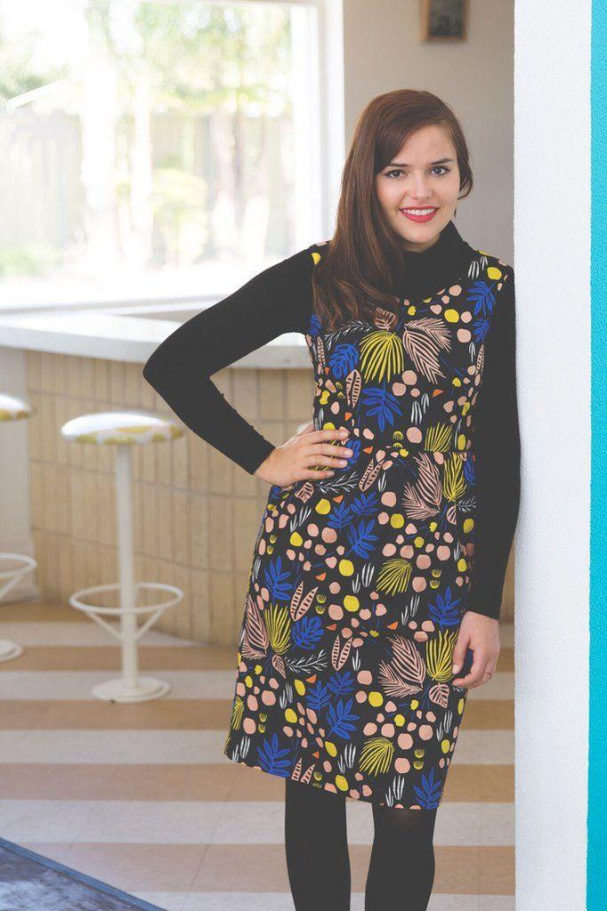 Maldives Print Fit and Flare Dress