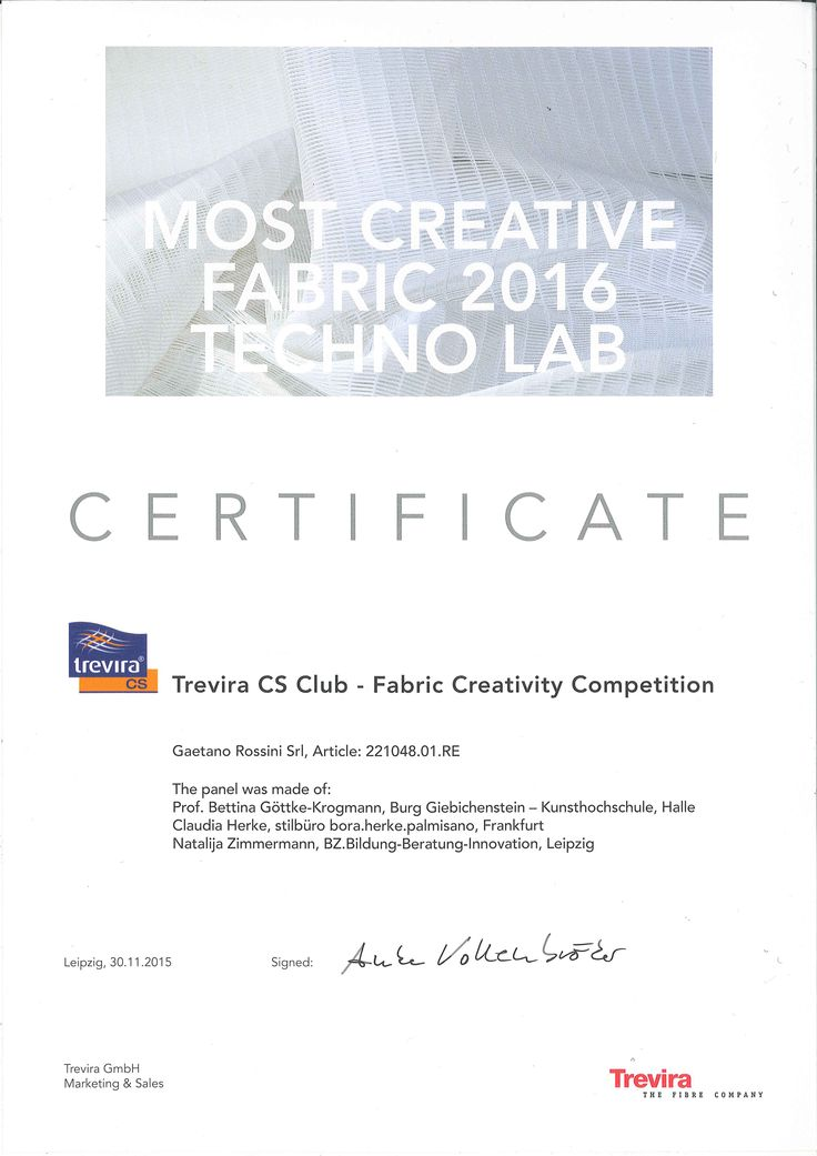 #Trevira Recognition 4 the 3rd year! We are really #satisfied and #excidet. Our #Fabrics and #Nets are really appreciated on the market, especially for the curtains!!!!