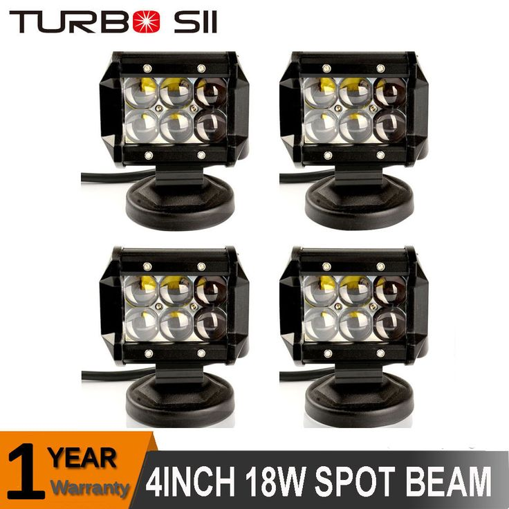 4X 4INCH 18W CREE LED Work Light Pods 4D Spot Offroad Driving Fog Lamp Truck ATV