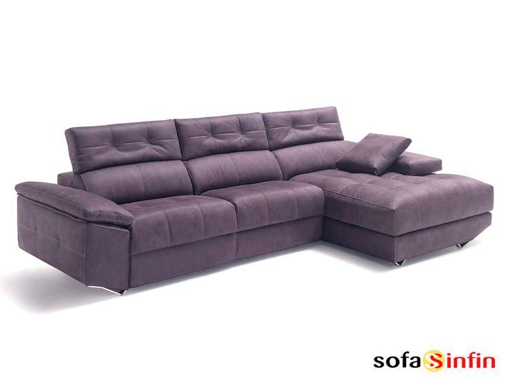 Sofassinfin.es Sofá 3 y 2 plazas con chaise-longue modelo Lotus fabricado por Divani Star.