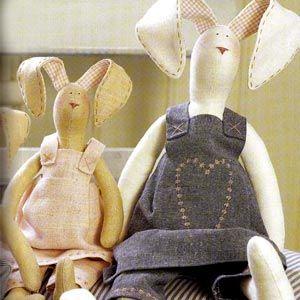 Куклы Тильда. Пасхальный заяц. Как сшить куклу Тильда? Выкройки Тильды.