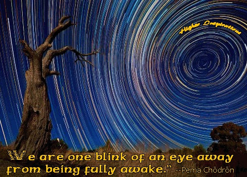 We are one moment away from being fully awake