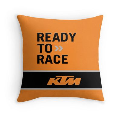 KTM ready to race throw pillow