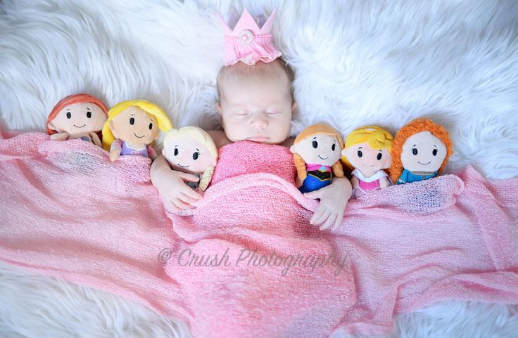 Newborn Disney princess photography