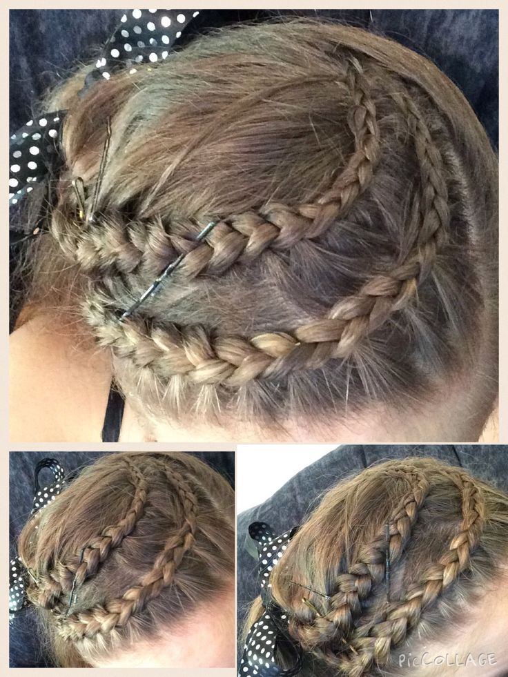 Double Dutch braid... Starting at the part