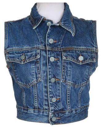 90s Calvin Klein Sleeveless Denim Jacket - S