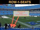 #Ticket  2 Front row Tampa Bay Buccaneers at Carolina Panthers tickets section 105 row 1 #deals_us