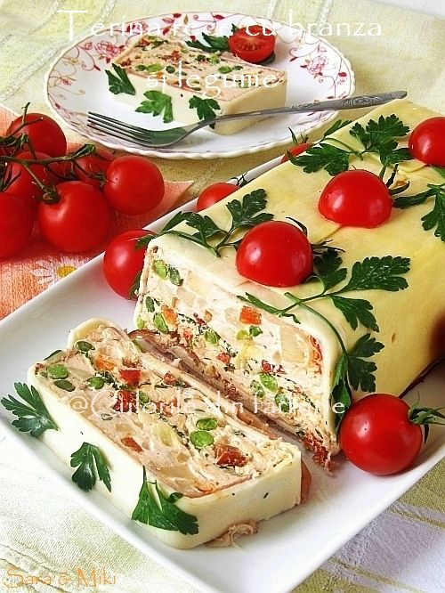 Culorile din farfurie: Terina rece cu branza si legume