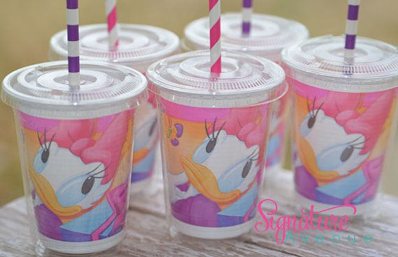 Daisy Duck Party CupsDaisy Duck Birthday by PartyCupMedley on Etsy, $14.40