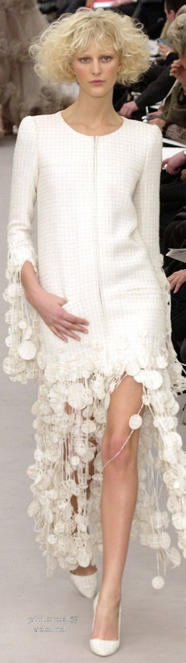 Chanel ~ Couture Spring White Maxi 2004