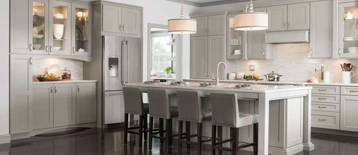 17 best images about american woodmark cabinets on for Kitchen cabinets and stones