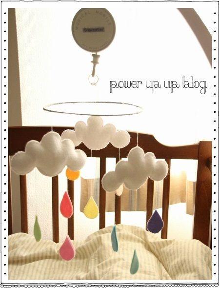 手作りベッドメリー♡ |ぴろっこのパワーアップアップ↑ブログ♪