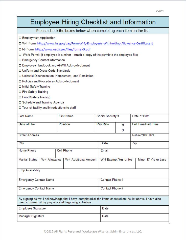 15 best Work related images on Pinterest Career, Business and - sample new hire checklist template