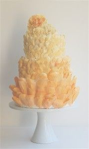 Maggie Austin wedding cake. Just, UGH, those petals! Perhaps I am just a cake nerd, or maybe that's just SUPER AWESOME.