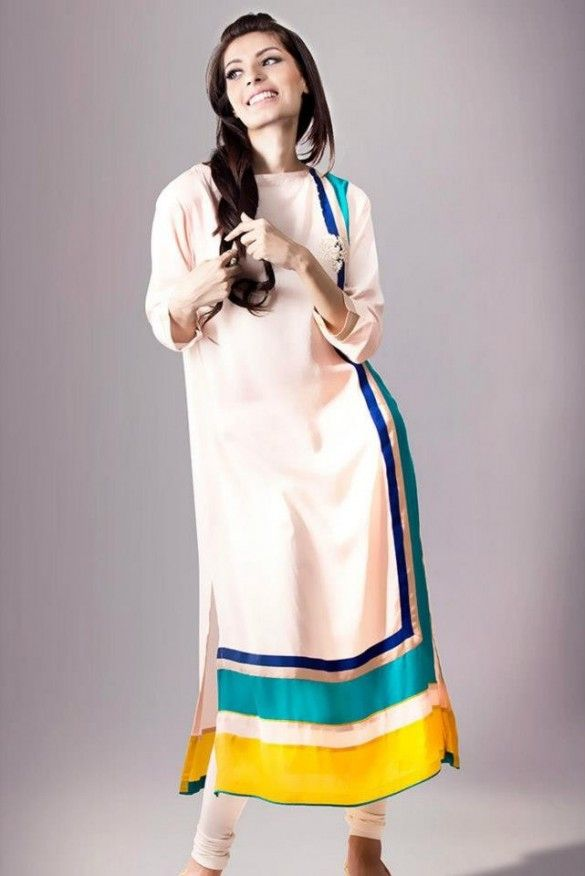Latest fashion frocks with churidar pajama designs 2014 for girls Latest Fashion Trends Frocks Designs 2014 latest fashion of frock designs.