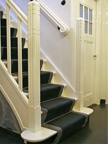 1930s House, stairs and hallway , entrance hall