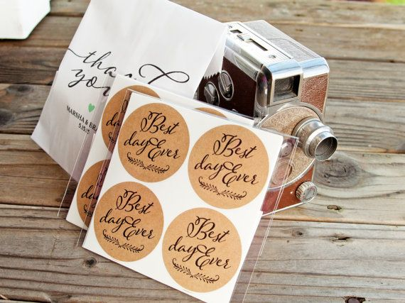 Wedding Favor   Sticker Seals  Wedding Favors and Jam by mavora