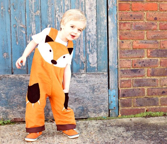 fox dungaree costume for children by wildthingsdresses on Etsy, how stinking cute is this?