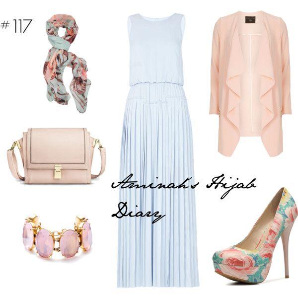 http://aminahshijabdiary.wordpress.com/ #hijab #muslimah #fashion #style #ootd #outfit #look #maxidress #blue #pink #rose