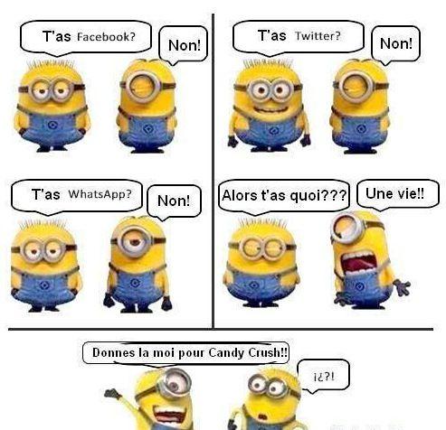 Image marrante sur les réseaux sociaux et les minions ! A partager !