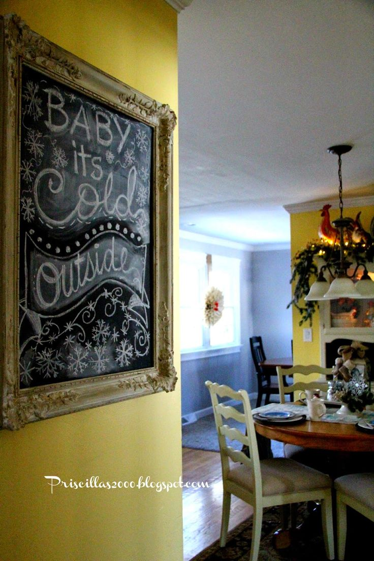261 best Chalkboard images on Pinterest | Christmas decor, Natal and  Christmas deco