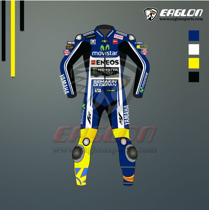 This specially designed Yamaha Movistar Leather Race Suit wore by Valentino Rossi in MotoGP 2014 for Championship. Description Valentino Rossi Yamaha Movistar MotoGP 2014 Leather Race Suit is designed for professional bikers to show their love toward him on the track. This suit is made of Cowhide leather with thickness of 1.2-1.3 mm and Schoeller Kevlar …