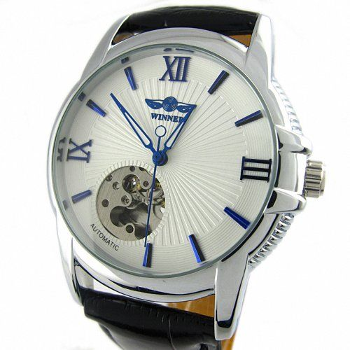 Youyoupifa White Skeleton Dial Automatic Mechanical Movement Unisex's Watch YouYouPifa http://smile.amazon.com/dp/B00FECEQQI/ref=cm_sw_r_pi_dp_GQ5vvb0FB7ND5