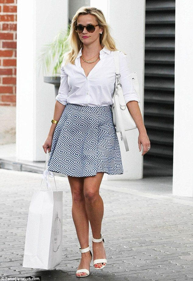 Looking like a movie star: Reese Witherspoon stepped out in Beverly Hills on Wednesday loo...