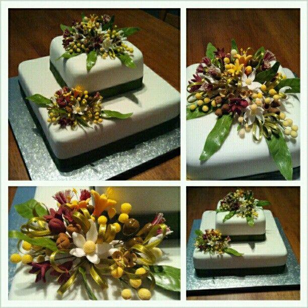 Australian native flowers cake by Aussie grrl, via Flickr