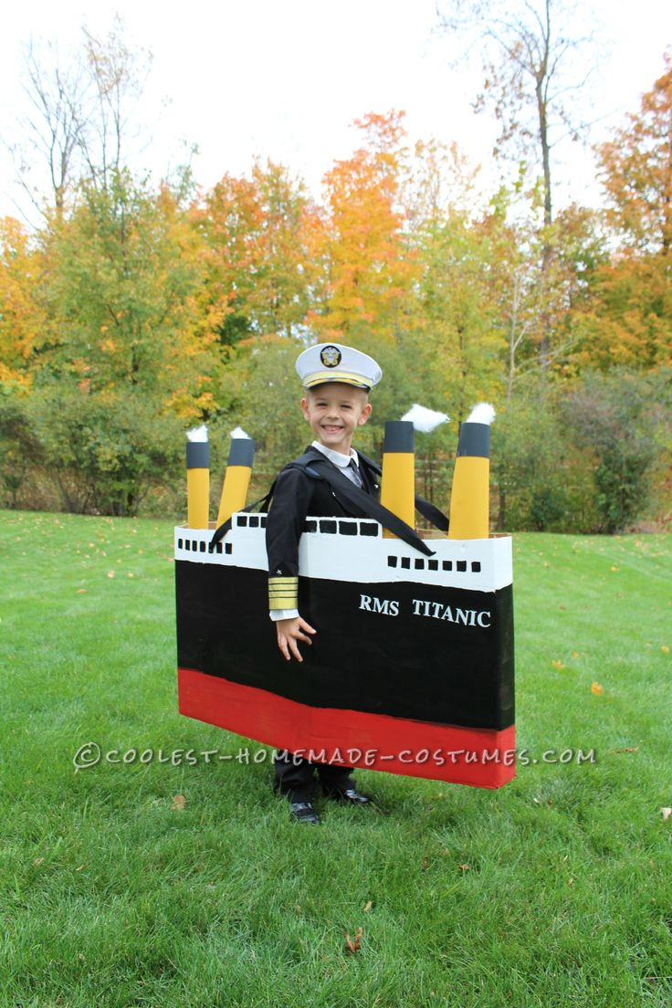 Original DIY Costume Idea for a Boy: Captain of the Titanic... This website is the Pinterest of costumes