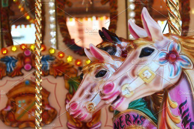 Horse Carousel by Daniel Mikulik on @creativemarket